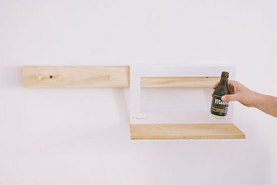 Perchero de madera